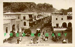 1915 Aden Real Photo Postcard: The Crater Bazaar