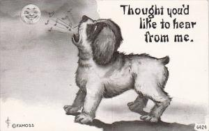 Humour Dog Barking At Moon Thought You'd Like To Hear From Me 1910 Cavally