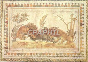 Postcard Modern Museum of El Jem Lions Devouring a Boar Carthage Paris Exhibi...
