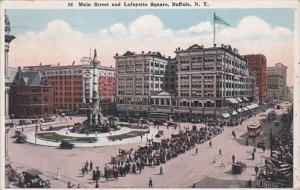 New York Buffalo Main Street and Lafayette Square 1926