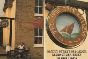 Bicycle Hanging Sign At Leigh On Sea Tait Art Gallery Postcard