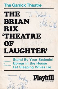 Stand By Your Bedouin Leslie Crowther Hand Signed Theatre Programme