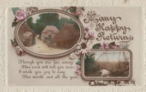 Crook Lancashire 1917 WW1 Frank Greetings Postcard