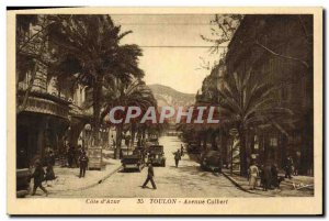 Old Postcard Toulon Avenue Colbert
