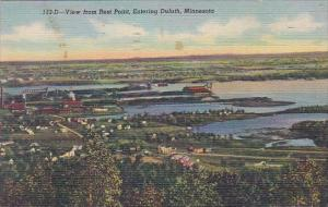 Minnesota View From Rest Point Entering Duluth 1951 Curteich