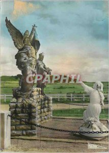 Modern Postcard The Sphinx Joan of Arc Listening to his voice (by sculptor Al...