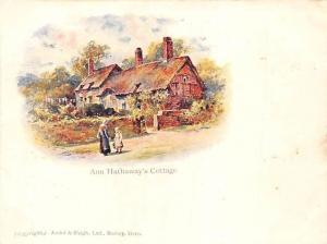 Court Size Card: England Stratford-upon-Avon, Anne Hathaway's Cottage