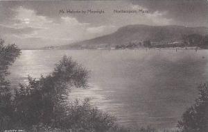 Massachusetts Northamton Mt Holyoke By Moonlight Albertype