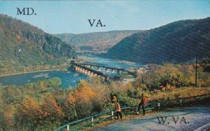 West Virginia Harper Ferry Where Tree States Meet