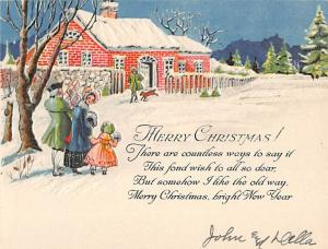 Christmas Post Card Small card,  non postcard backing Unused