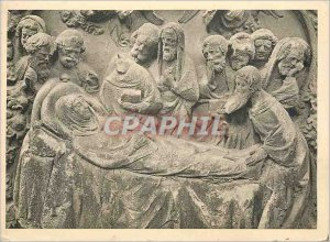 Postcard Modern Chouer (north side) detail of a low death relief of the Virgi...