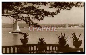 Old Postcard Juan les Pins View from Cap d & # 39Antibes