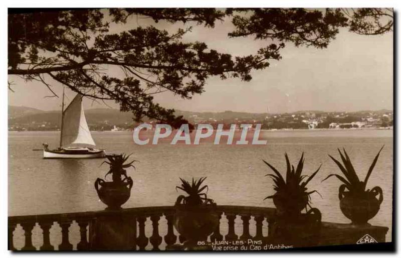Old Postcard Juan les Pins View from Cap d & # 39Antibes