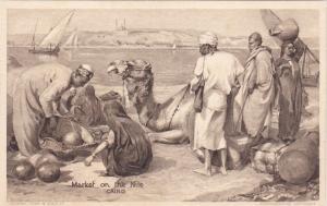CAIRO , Egypt , 00-10s ; Market on the Nile ; TUCK