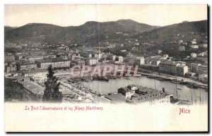 Postcard Old Port I Observatory and the Alps Maritimes Nice Charter