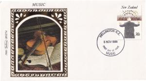 New Zealand Violin Benham First Day Cover