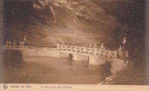 CAVE; Grotte de Han, Le Pont de la Salle d´Armes, Tourist crossing bridge, 0...
