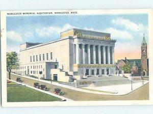Linen BUILDING SCENE Worcester - Near Boston Massachusetts MA AE8666