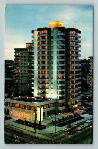 Vancouver BC- British Columbia, Sheraton Plaza 500 Hotel, Chrome c1975Postcard