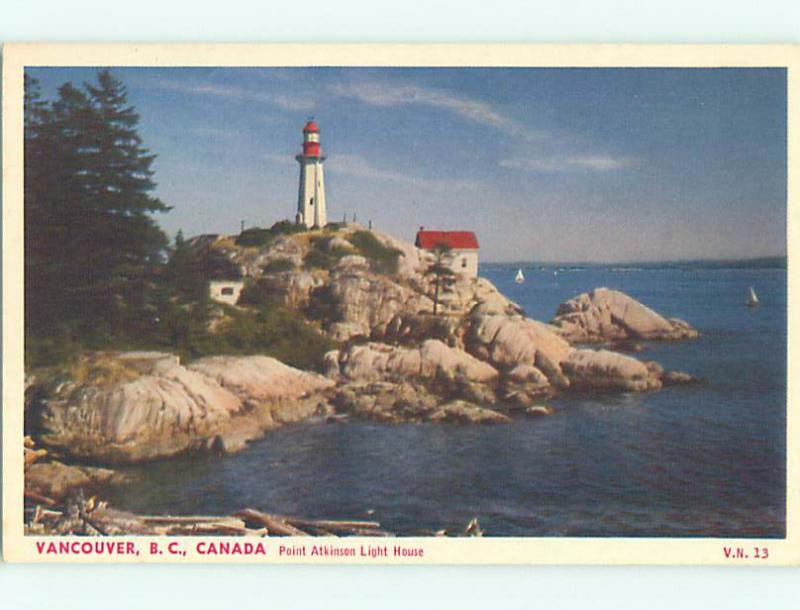 Unused W-Border TOWN VIEW SCENE Vancouver British Columbia BC o1092