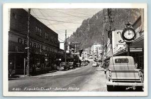 Postcard AK View of Juneau Franklin Street View RPPC Real Photo c1940s Q12