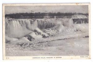 Niagara Falls American Falls in Winter 1946