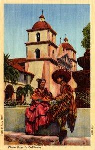 California Los Angeles Fiesta Days Curteich