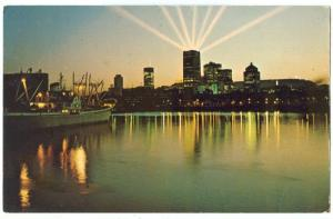 Canada, Montreal skyline, P.Q. 1966 used Postcard