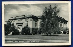 Idaho Falls County Court House Idaho id litho postcard