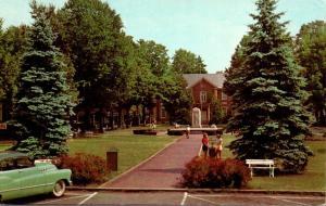New York Chautauqua Bestor Plaza and Smith Library On Lake Chautauqua