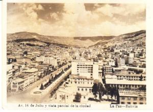 Bolivia - Av. 16 de Julio y vista parcial de la ciudad  RP