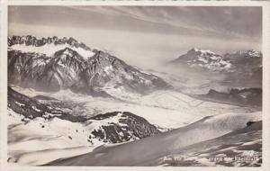 Switzerland Am PIz Schelthorn gegen das Rheintal 1946 Photo