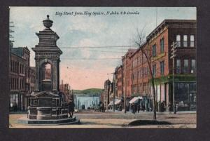 NB King St Square St John New Brunswick Canada Carte Postale Postcard Canada PC