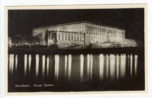 RP: Royal Palace @ Night / Kungl Slottet,Stockholm, Sweden 1930-40s
