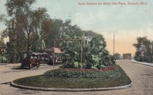 Auto Station for Belle Isle Park , DETROIT , Michigan ; PU-1909