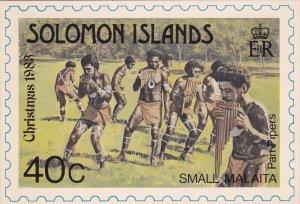 Solomon Islands ,  Native Stamp postcard , 1983