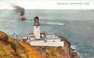 Douglas Isle of Man Douglas Head Lighthouse Antique Postcard (J25406)