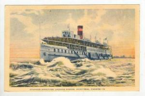 Steamer Shooting Lachine Rapids, Montreal, Canada, PU-1936
