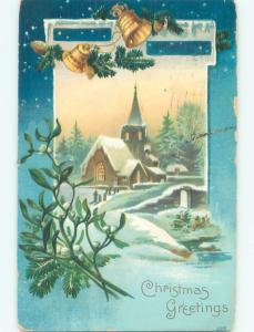 Divided-Back CHRISTMAS SCENE Great Postcard W9706