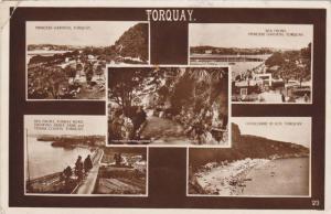 RP; 5-Views of Torquay, Devon, England, United Kingdom, PU-1941