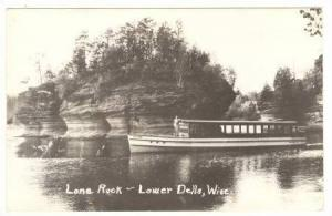 RP; Boat JOSEPHINE at Lone Rock, Lower Dells, Wisconsin, 30-40s