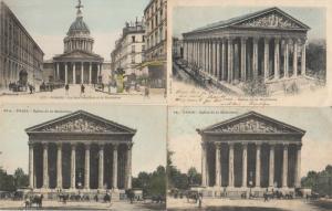 Lot 4 early glitter sparkle applied novelty postcards France Paris