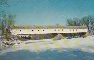 Smith Covered Bridge Over Saco River White Mountains New Hamshire
