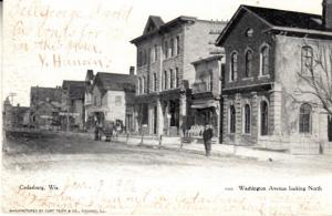 Cedarburg Wisconsin 1908 Washington Ave. Looking North
