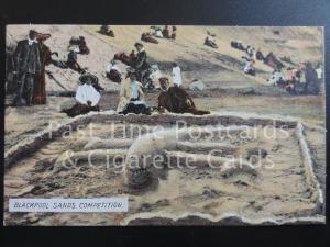 Lancashire: BLACKPOOL SANDS COMPETITION c1907 (Beach Sand Art / Sand Castles)