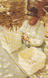 Georgia Lumpkin Westville John Henry Weaving Split Oak Baskets