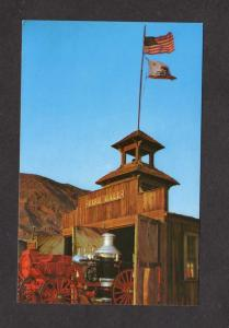 CA Fire Truck Engine Station Calico Ghost Town Barstow Yermo California Postcard