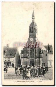 Old Postcard Montoire L & # 39Eglise Children TOP