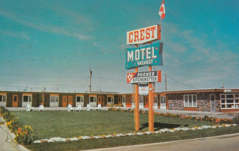 LETHBRIDGE, Alberta, Canada, 1950-1960's; Crest Motel