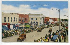 Street Scene Parade Rock Ford Colorado postcard
